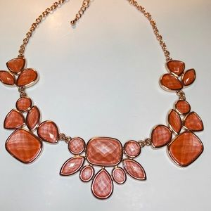 Lia Sophia Rose Gold and Coral Necklace